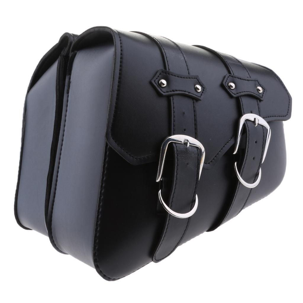 2-pcs-Borsa-Laterale-Pelle-Porta-Oggetti-Cintura-Regolabile-Per-Moto-Cruiser miniatura 5
