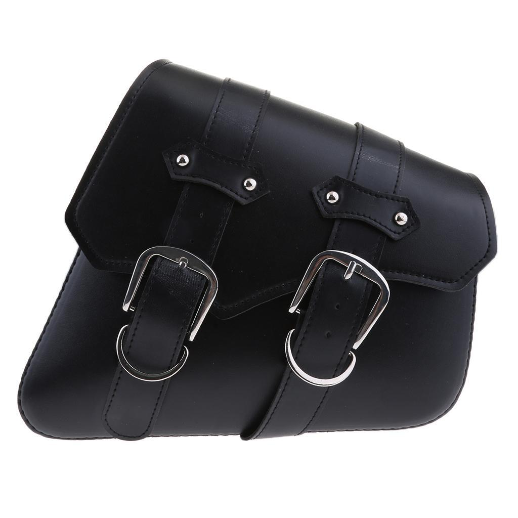 2-pcs-Borsa-Laterale-Pelle-Porta-Oggetti-Cintura-Regolabile-Per-Moto-Cruiser miniatura 6