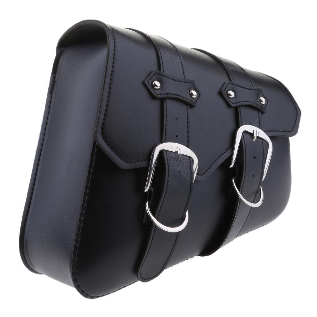 2-pcs-Borsa-Laterale-Pelle-Porta-Oggetti-Cintura-Regolabile-Per-Moto-Cruiser miniatura 3