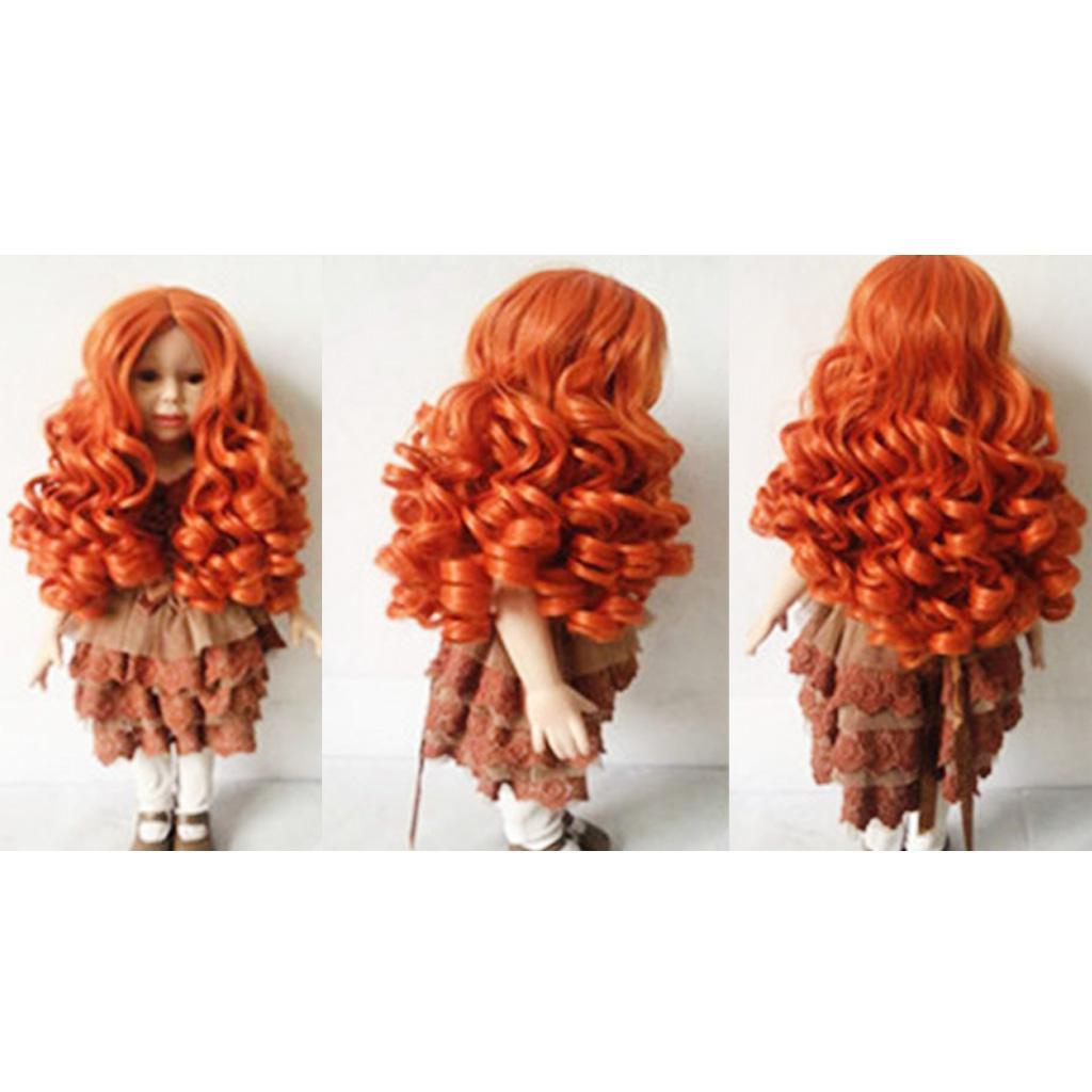 MagiDeal-Wavy-Curly-Hair-Wig-for-18inch-American-Doll-Doll-DIY-Making-Accessory thumbnail 6