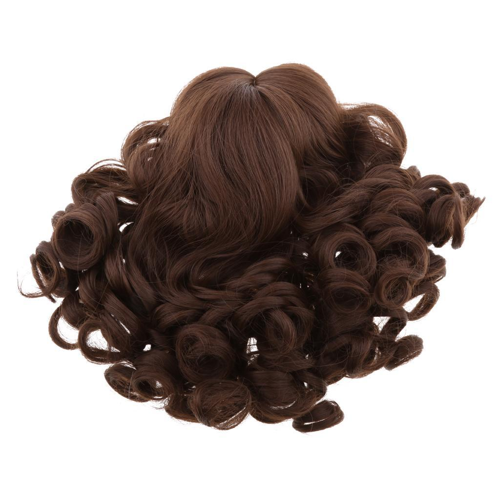 Fantasy-Wavy-Curly-Hair-Wig-for-18inch-American-Doll-Doll-DIY-Making-Accessory thumbnail 3