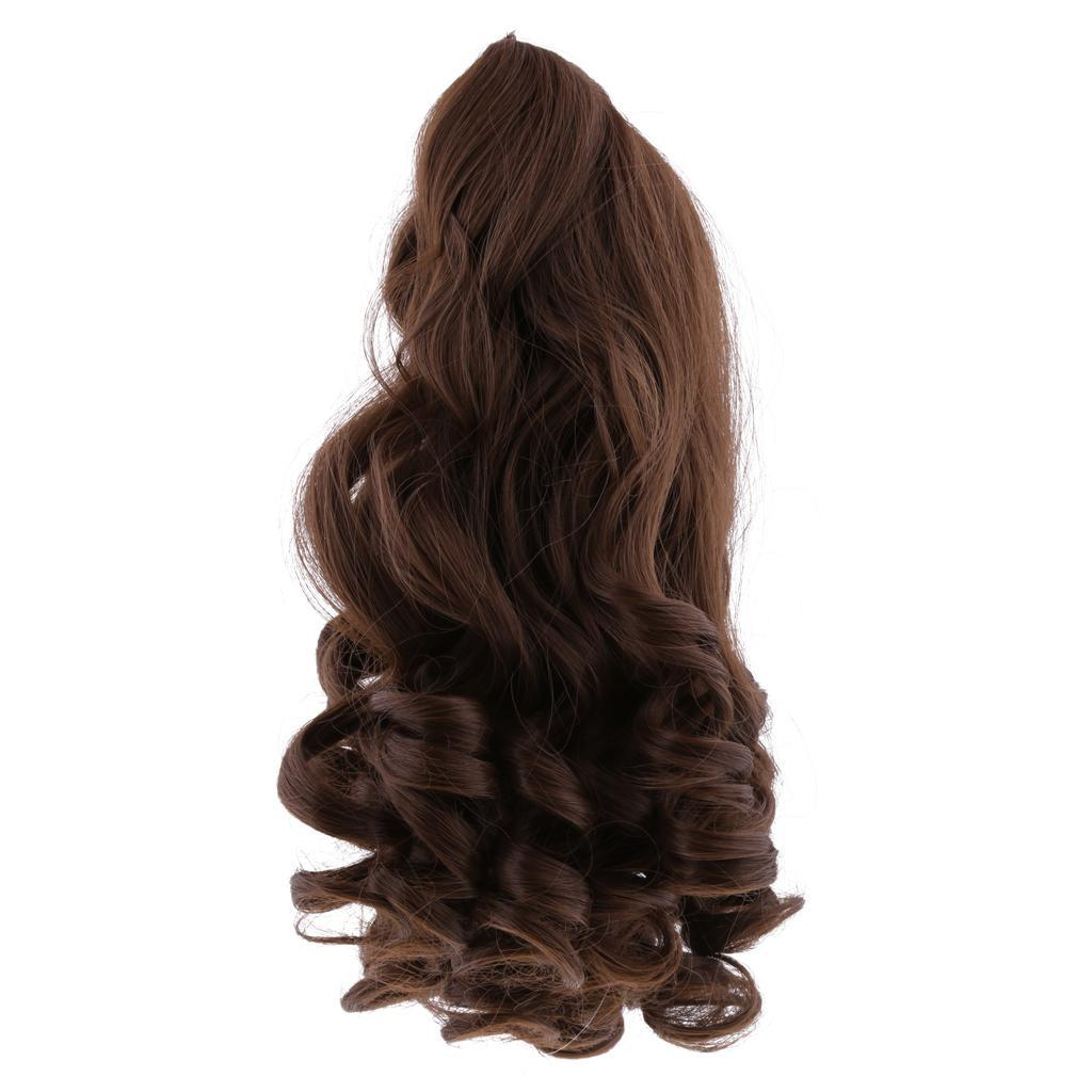 MagiDeal-Wavy-Curly-Hair-Wig-for-18inch-American-Doll-Doll-DIY-Making-Accessory thumbnail 3