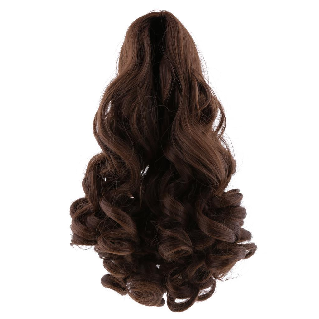 MagiDeal-Wavy-Curly-Hair-Wig-for-18inch-American-Doll-Doll-DIY-Making-Accessory thumbnail 4