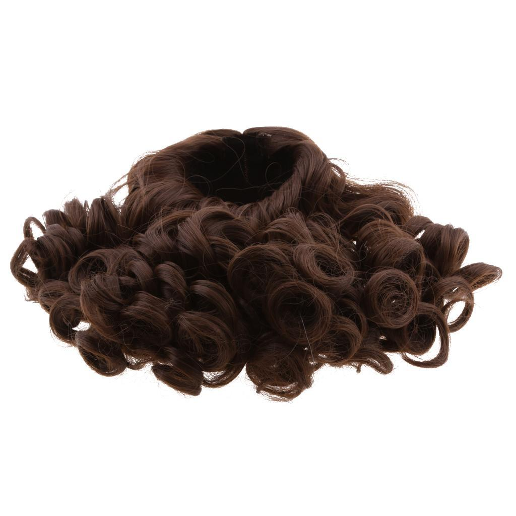 MagiDeal-Wavy-Curly-Hair-Wig-for-18inch-American-Doll-Doll-DIY-Making-Accessory thumbnail 5