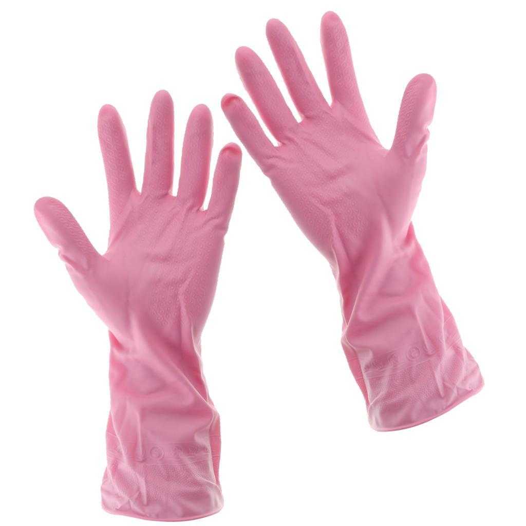 Gloves-Dish-Washing-Cleaning-Waterproof-Soft-Rubber-Scouring-Kitchen-Gloves thumbnail 21