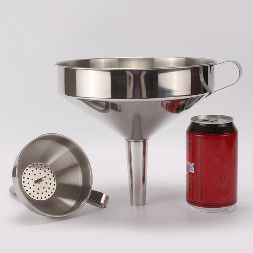 miniatura 9 - Imbuto-da-Cucina-con-Filtri-Rimovibile-per-Imbuto-In-Acciaio-Inox-con