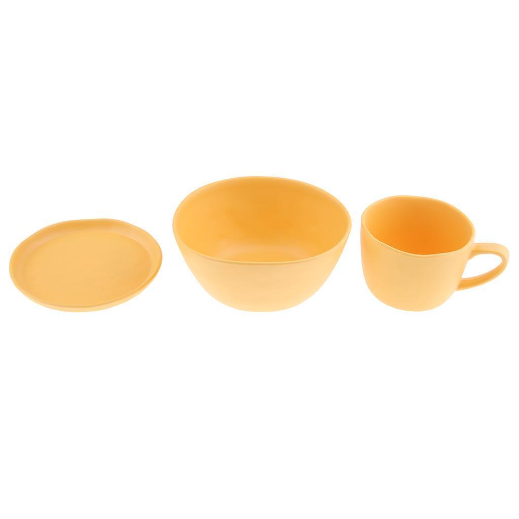 Dinnerware-Set-of-3-Service-Cup-Coffee-Mug-Salad-Bowl-with-Saucer-Plate thumbnail 3