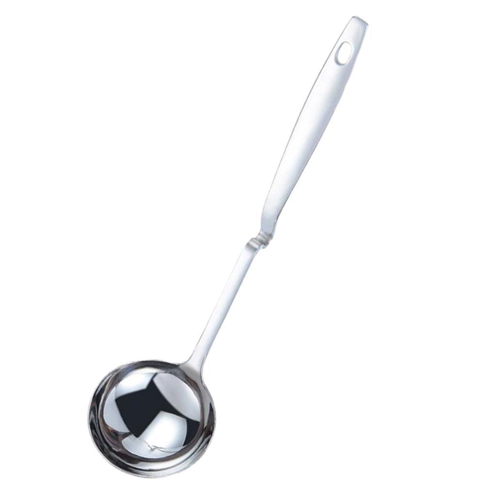 In-acciaio-inox-curvo-con-manico-grande-cucchiaio-da-minestra-mestolo-con miniatura 5