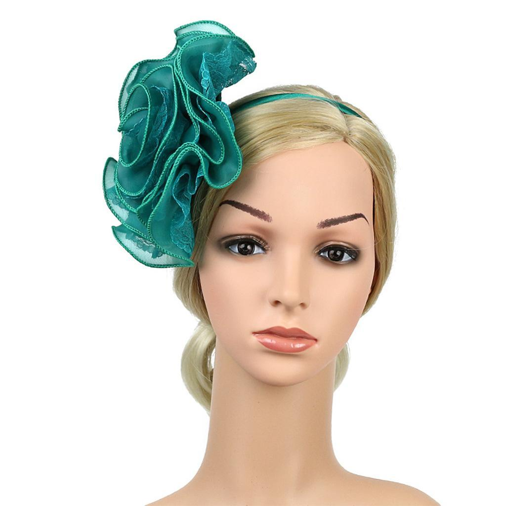 Fascinator Headpiece: Ladies Lace Flower Fascinator Wedding Races Prom Ascot