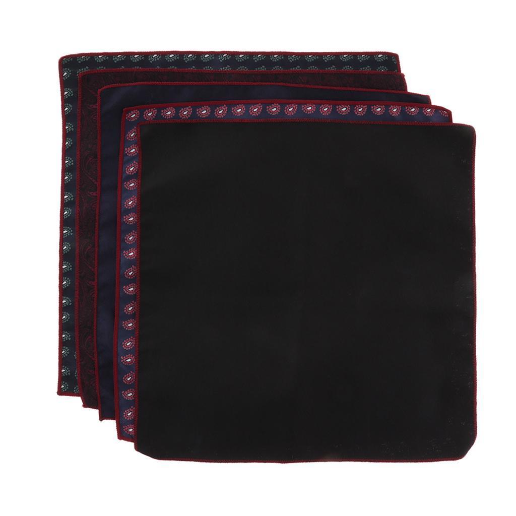 5pcs-fazzoletti-da-taschino-per-fazzoletti-da-uomo-Fazzoletti-decorativi miniatura 21