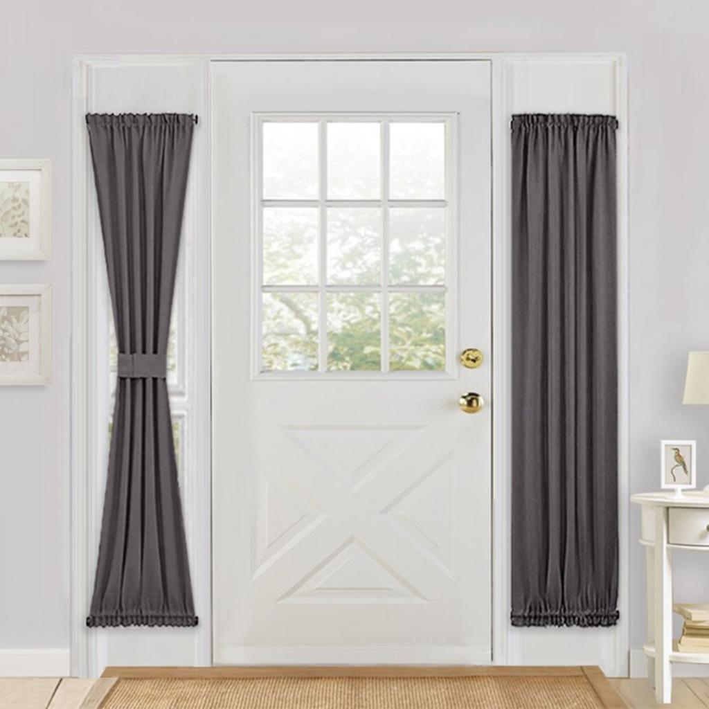 Solid-Color-Blackout-French-Door-Curtain-Panel-Rod-Pocket-Window-Treatment thumbnail 21