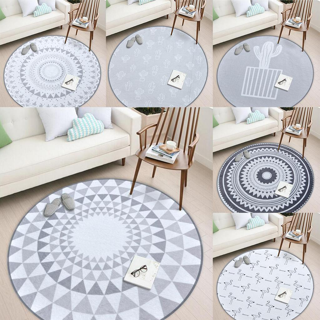 Details About Fashion Round Area Rugs Floor Mats Sitting Room Bedroom Carpet Chair Cushion