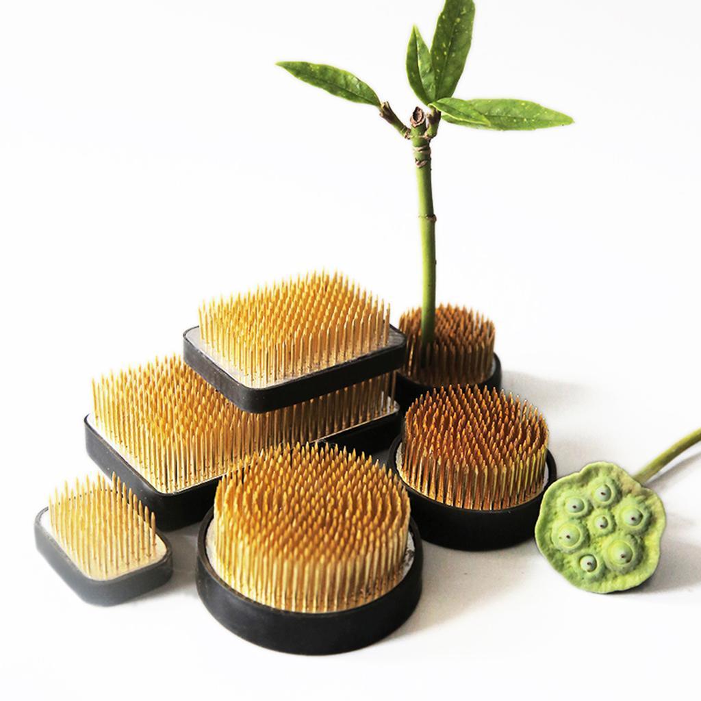 Ikebana-Kenzan-Spiky-Flower-Frog-Plant-Arranging-Fixed-Tool-Flower-Hobby thumbnail 9