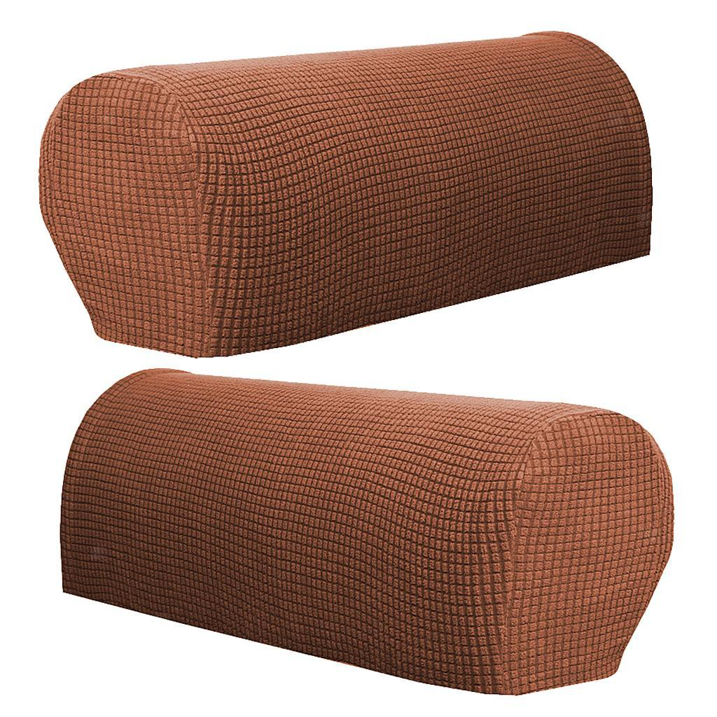 Set Of 6 Sofa Armrest Cover Stretch Couches Armchairs ...