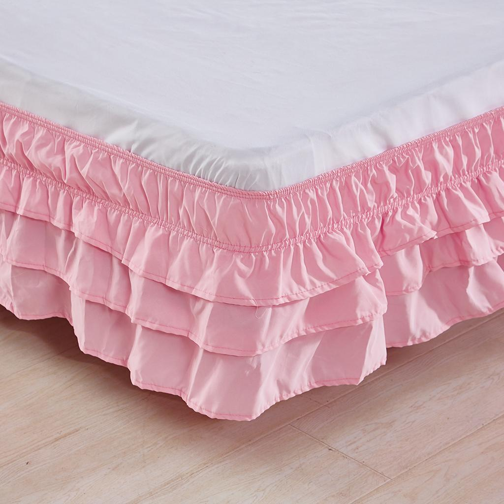 Blesiya-38cm-Drop-Bed-Skirts-Multi-Ruffle-Waterfall-Bedskirts-All-Sizes thumbnail 19