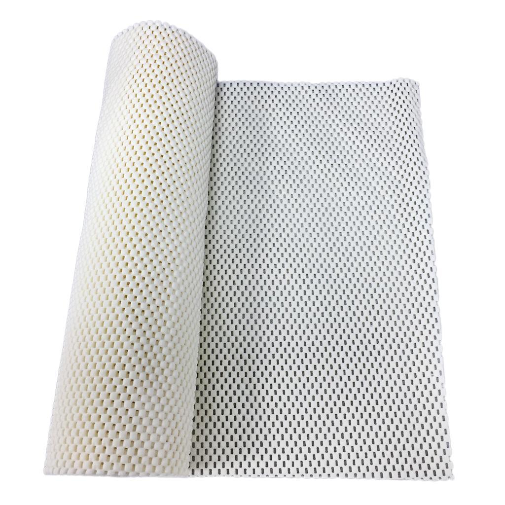 Antislip Non Adhesive Shelf Drawer Grip Liner Mat for Kitchen Cabinet Milky