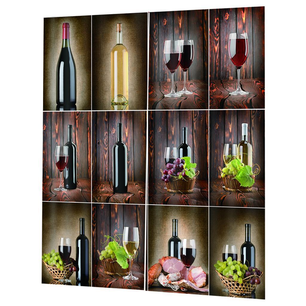 miniatura 13 - Tende per finestre decorative Stampa di bottiglie di vino, tende a ridurre