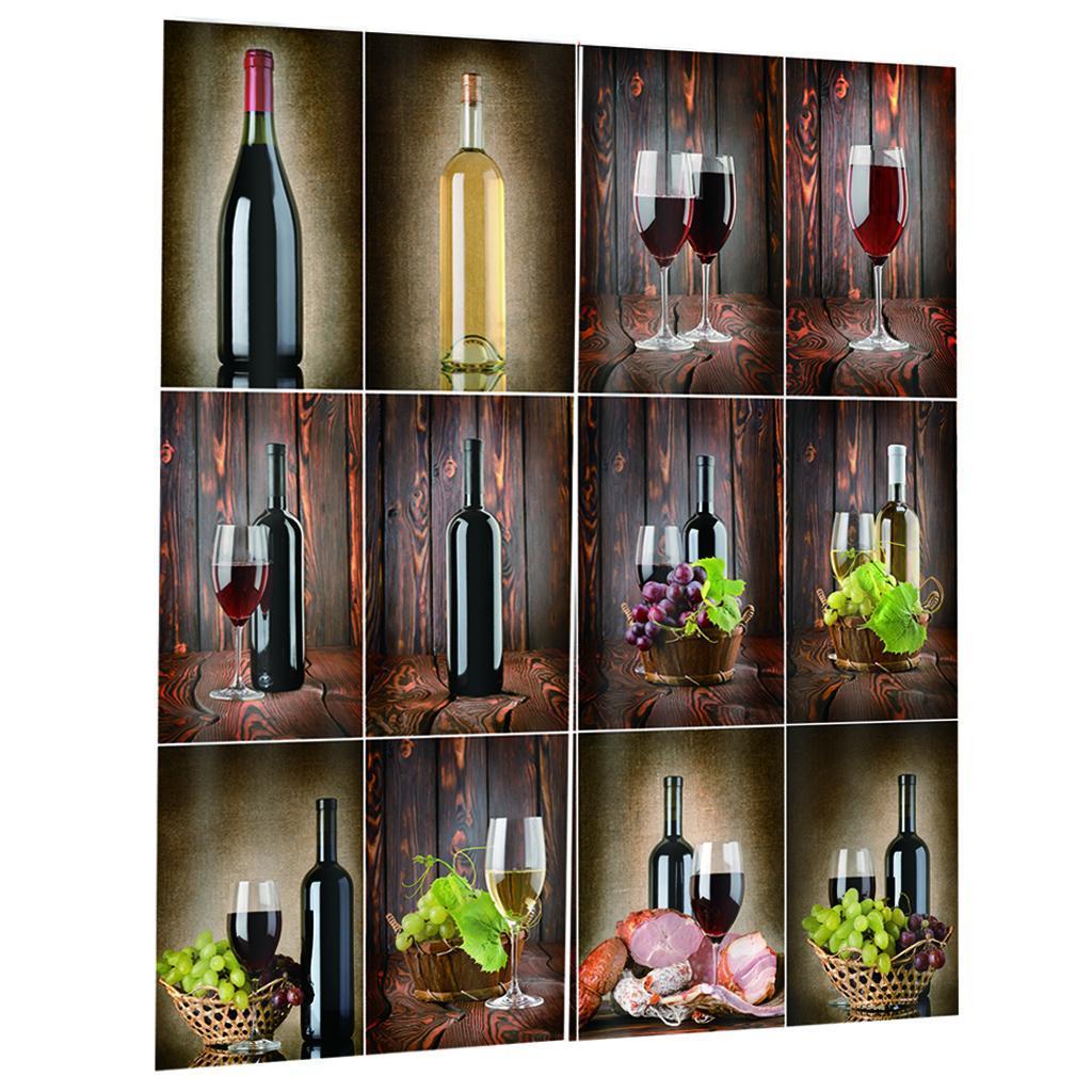 miniatura 14 - Tende per finestre decorative Stampa di bottiglie di vino, tende a ridurre