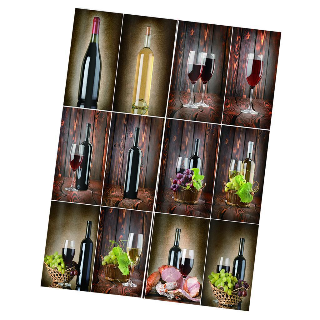 miniatura 15 - Tende per finestre decorative Stampa di bottiglie di vino, tende a ridurre