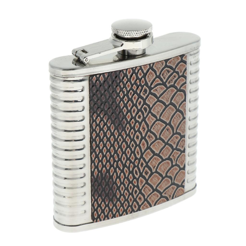 5-6-7oz-Liquor-Stainless-Steel-Pocket-Hip-Flask-Takeaway-Alcholo-Bottle thumbnail 3