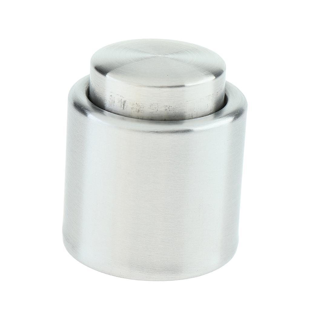 Stainless-Steel-Wine-Storage-Stopper-Bottle-Cap-Beer-Vacuum-Sealed-Plug-Tool thumbnail 3