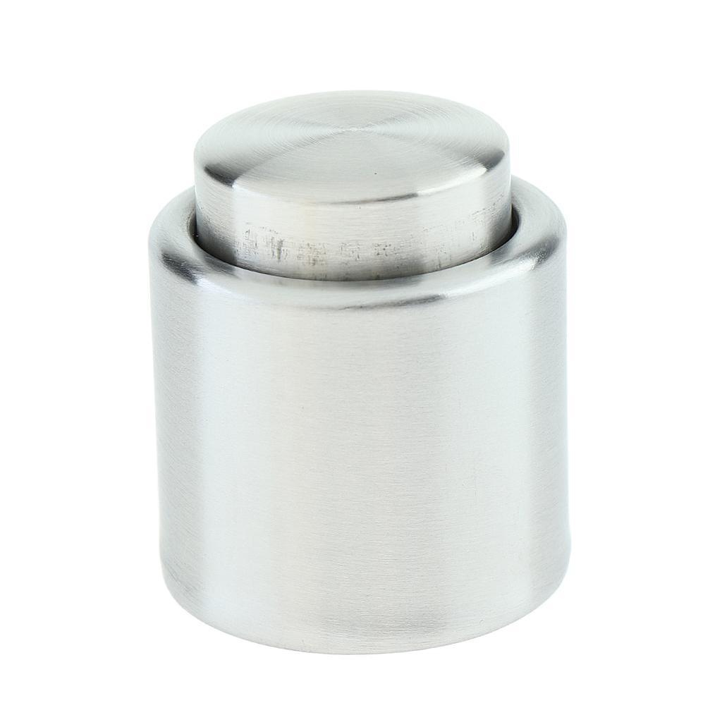 Stainless-Steel-Wine-Storage-Stopper-Bottle-Cap-Beer-Vacuum-Sealed-Plug-Tool thumbnail 4