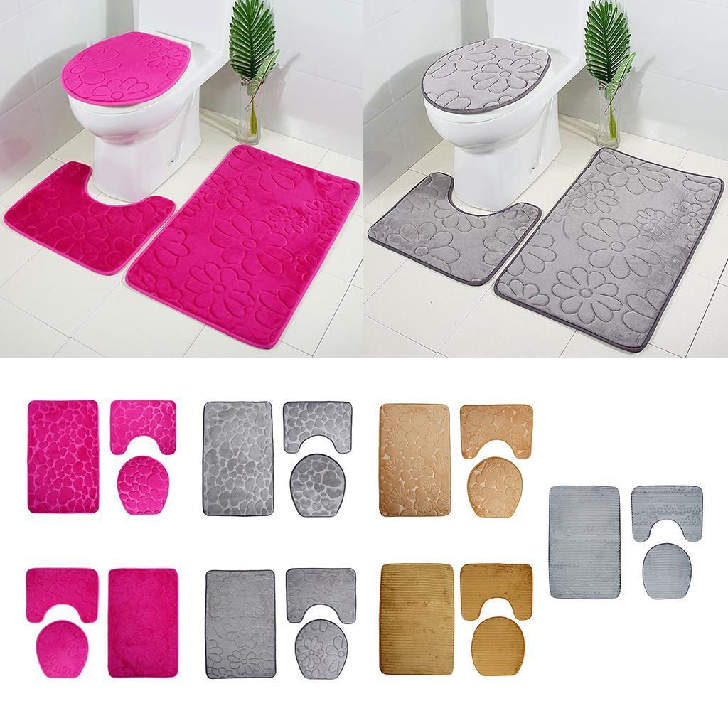 Bathroom Rugs Square Floor Mat U Shape
