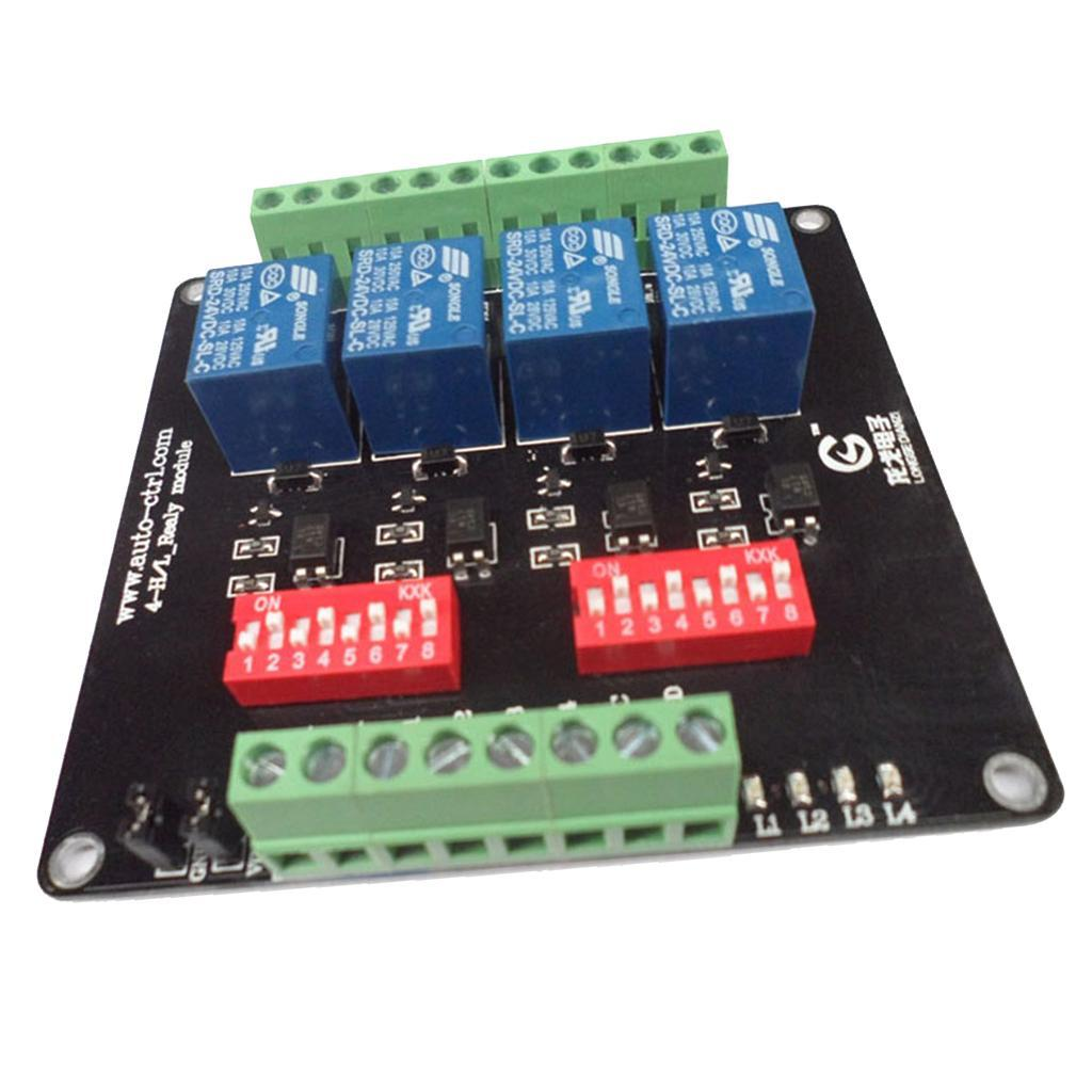 4-Channel-Isolation-3-5-12-24V-Relay-Board-Module-Optocoupler-High-Low-Level miniature 10