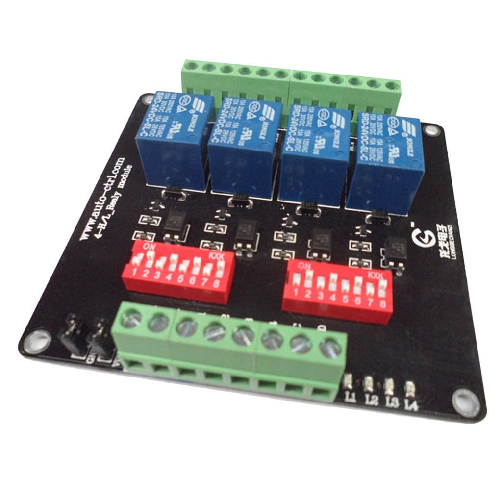 4-Channel-Isolation-3-5-12-24V-Relay-Board-Module-Optocoupler-High-Low-Level miniature 11