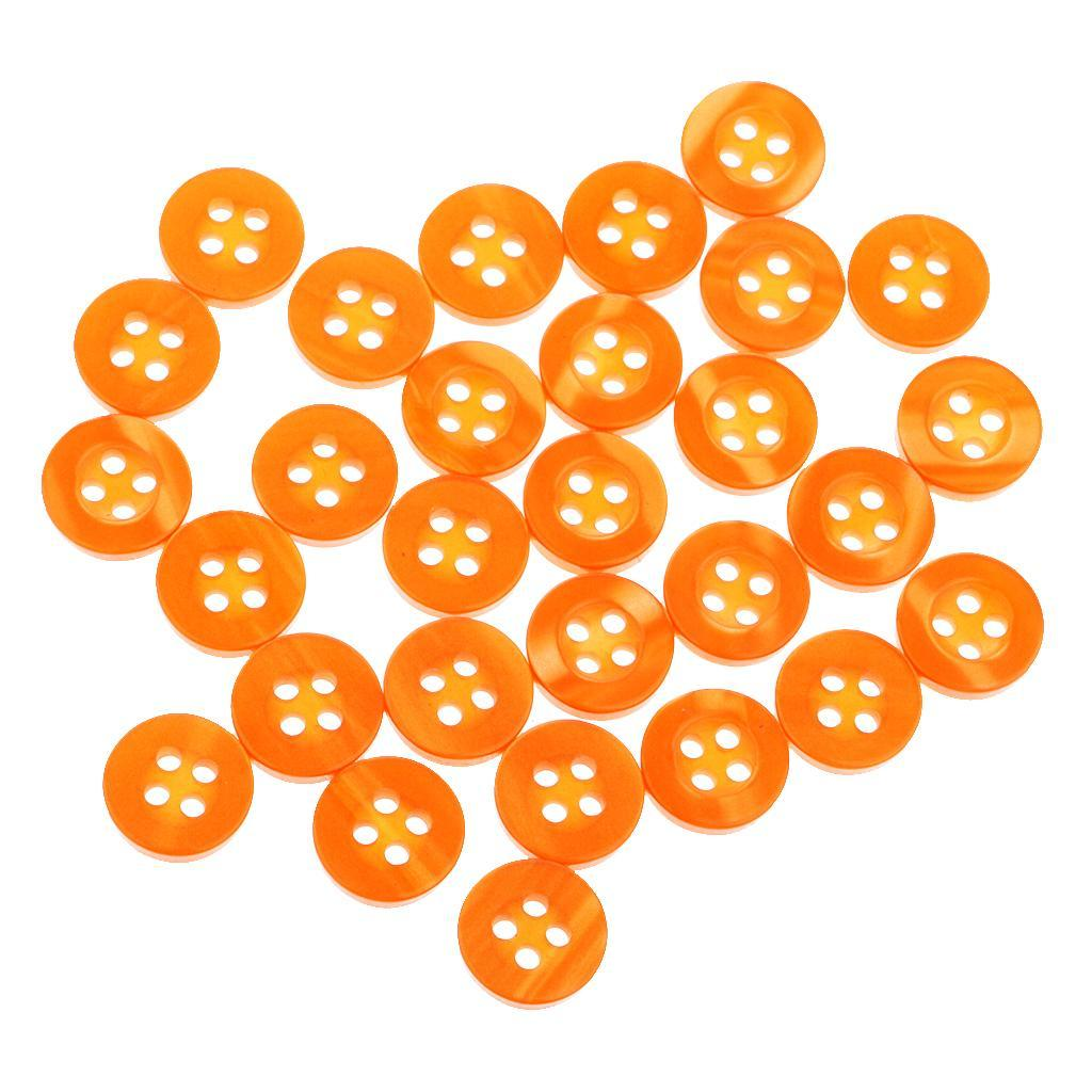 100pcs-4-Holes-Round-DIY-Resin-Buttons-Sewing-Scrapbooking-Clothes-Decor-11mm thumbnail 39