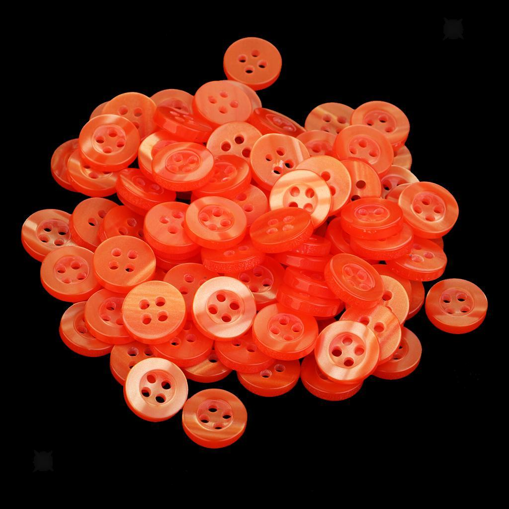 100pcs-4-Holes-Round-DIY-Resin-Buttons-Sewing-Scrapbooking-Clothes-Decor-11mm thumbnail 42
