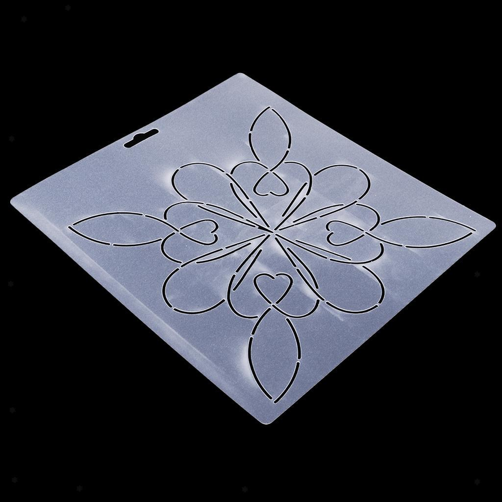 1pc-Plastic-Embroidery-Quilting-Templates-amp-Stencils-Sewing-Patchwork-Tools-DIY thumbnail 38