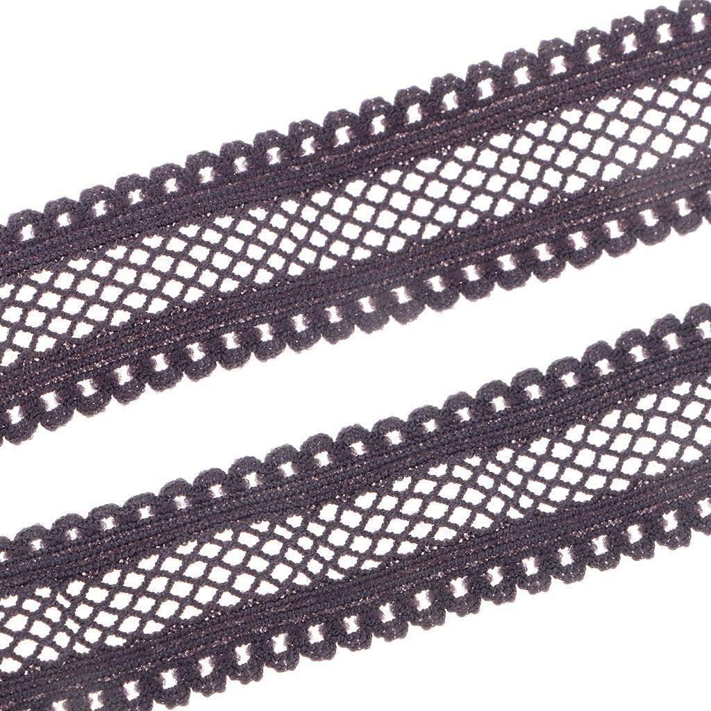 10Yards-18mm-Multirole-Fold-Over-Lace-Trim-Polyester-Elastic-Band-DIY-Sewing thumbnail 3