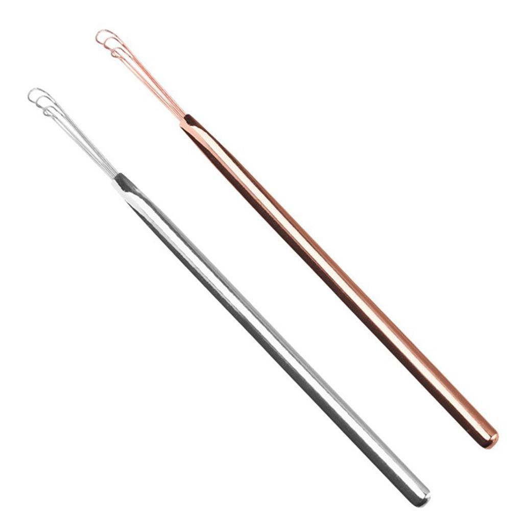 2x-Stainless-Steel-Ear-Pick-Curette-Wax-Remover-Cleaner-Tool-for-Men-Women thumbnail 3