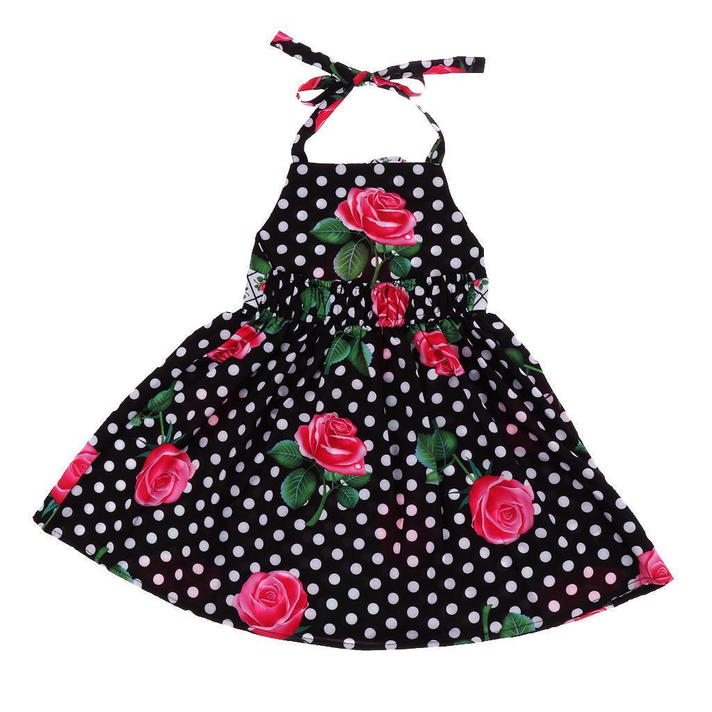 miniature 3 - petit bébé fille à carreaux volants robe d'été enfants fille backless