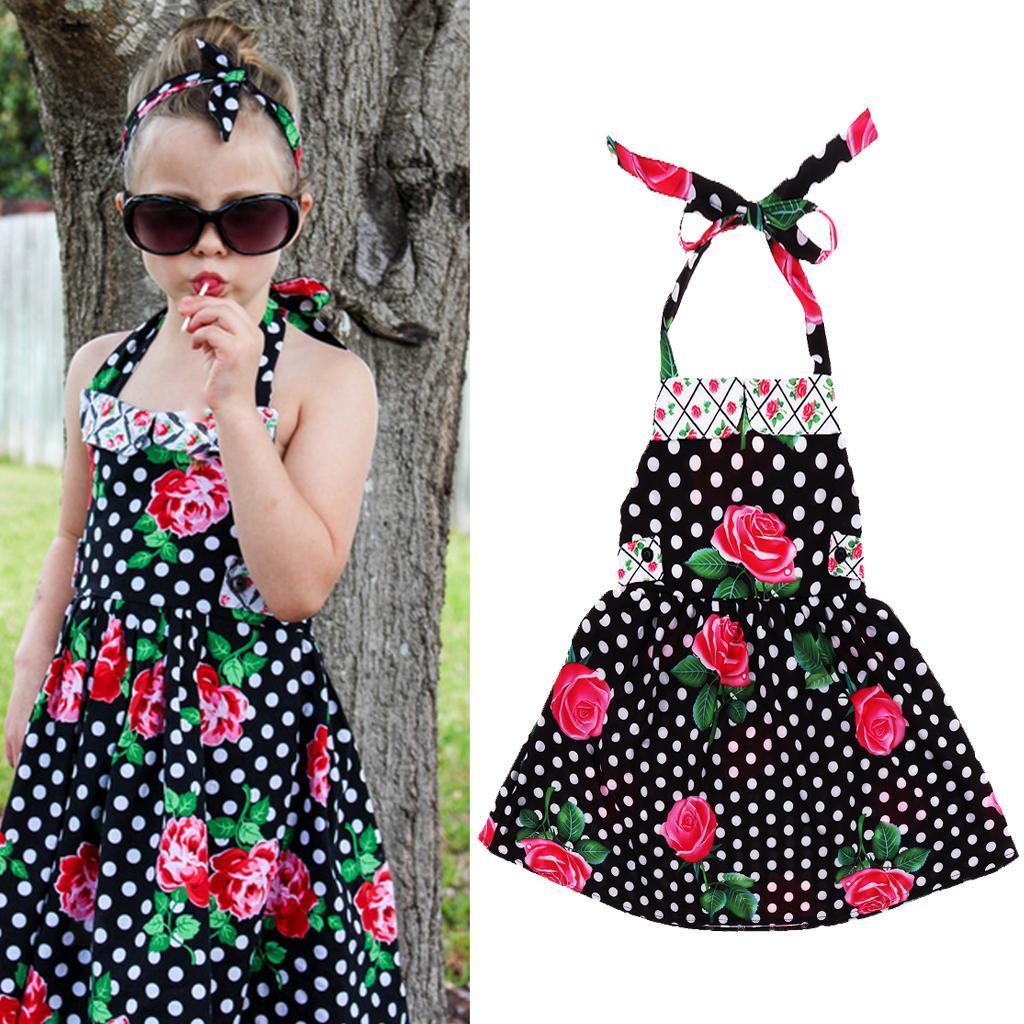 miniature 5 - petit bébé fille à carreaux volants robe d'été enfants fille backless