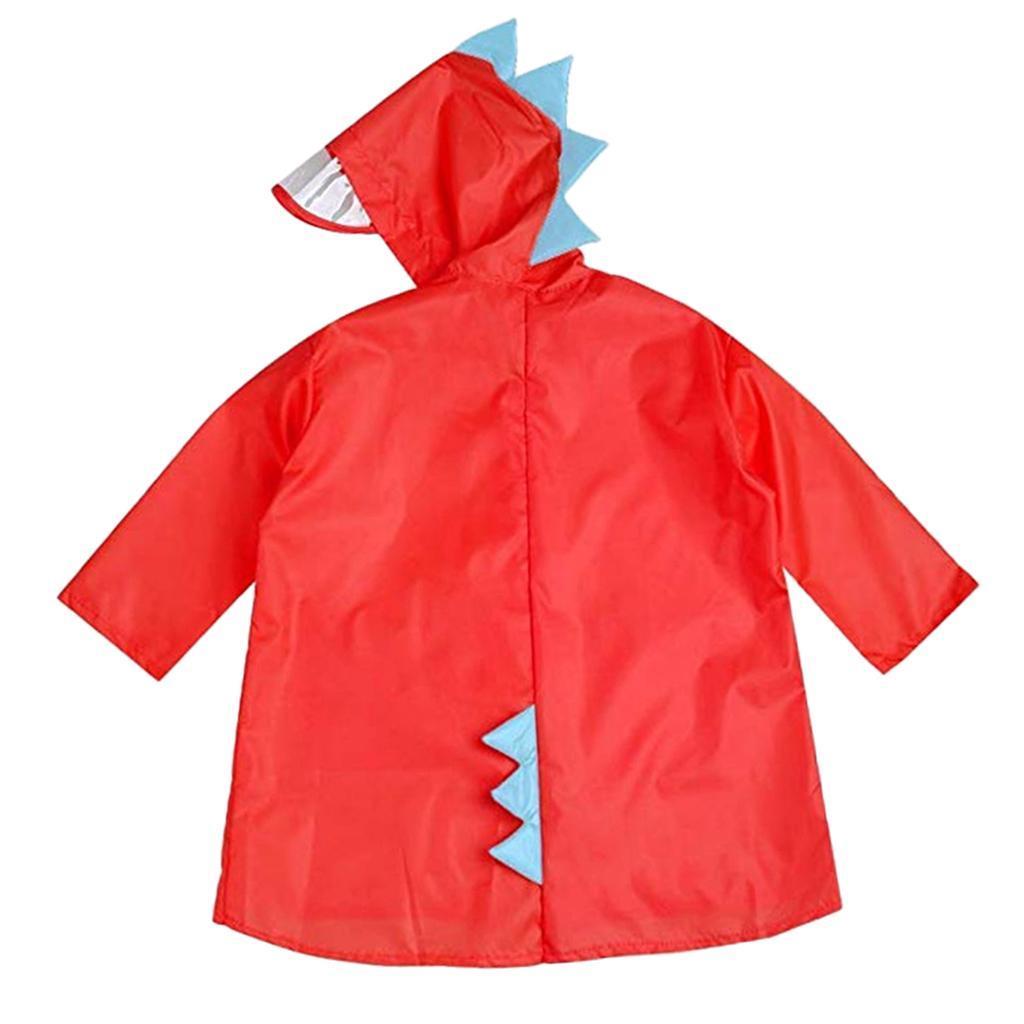 revendeur c90d4 2bbcf Détails sur Enfant Poncho de Pluie Garçon Fille Imperméable Raincoat  Dinosaure