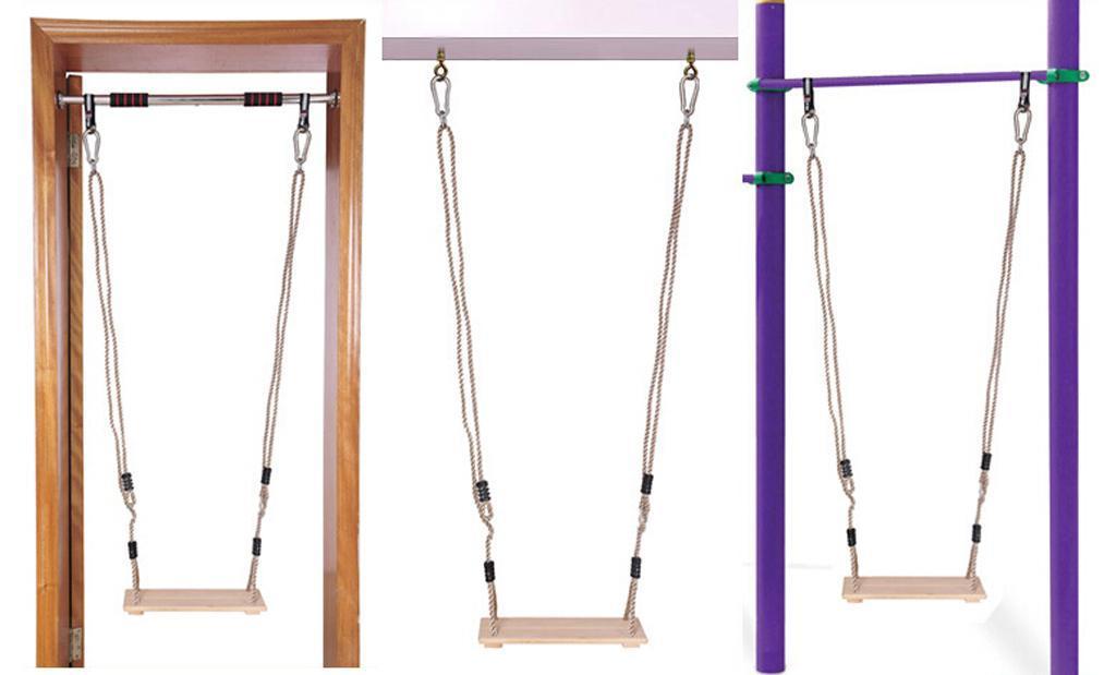 Garden-Swing-Set-Seat-Rope-Hanging-Strap-Connector-Metal-Chain-Kid-Adult-Outdoor miniatuur 27