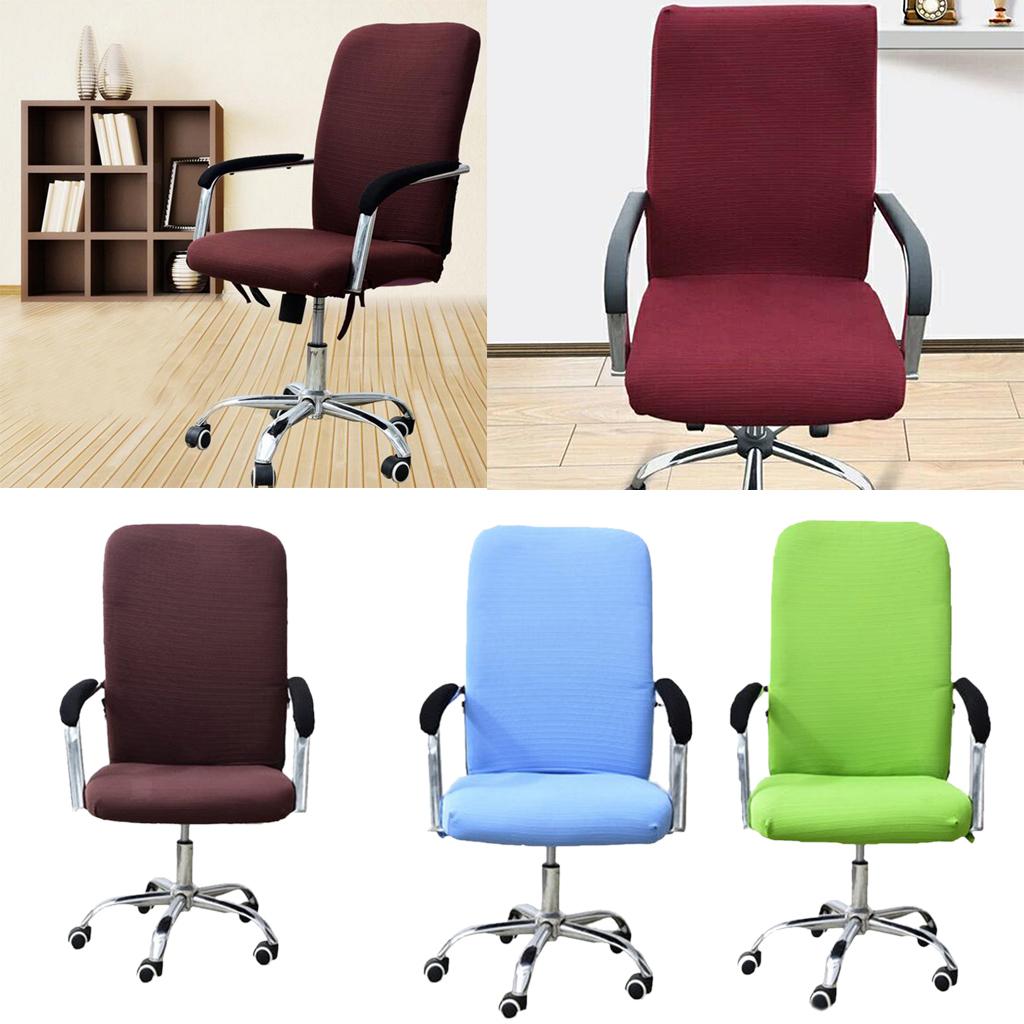 Housse-de-fauteuil-Fauteuil-de-bureau-confortable-Housse-de-siege-pivotant miniature 9