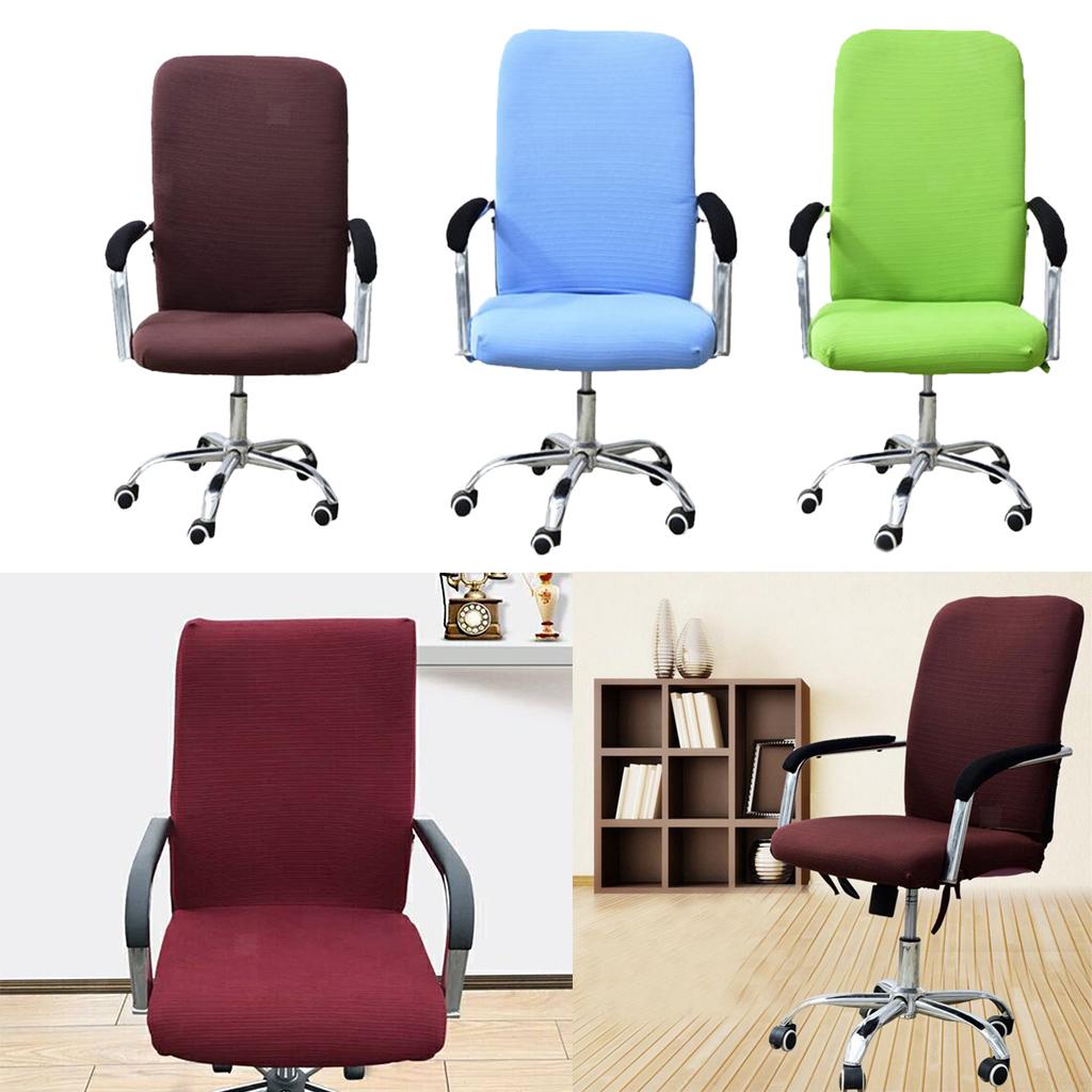 Housse-de-fauteuil-Fauteuil-de-bureau-confortable-Housse-de-siege-pivotant miniature 11