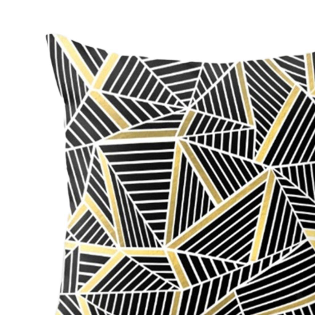 Housse-De-Coussin-En-Lin-Forme-Carre-Geometrique-Design-Moderne-Couverture miniature 7