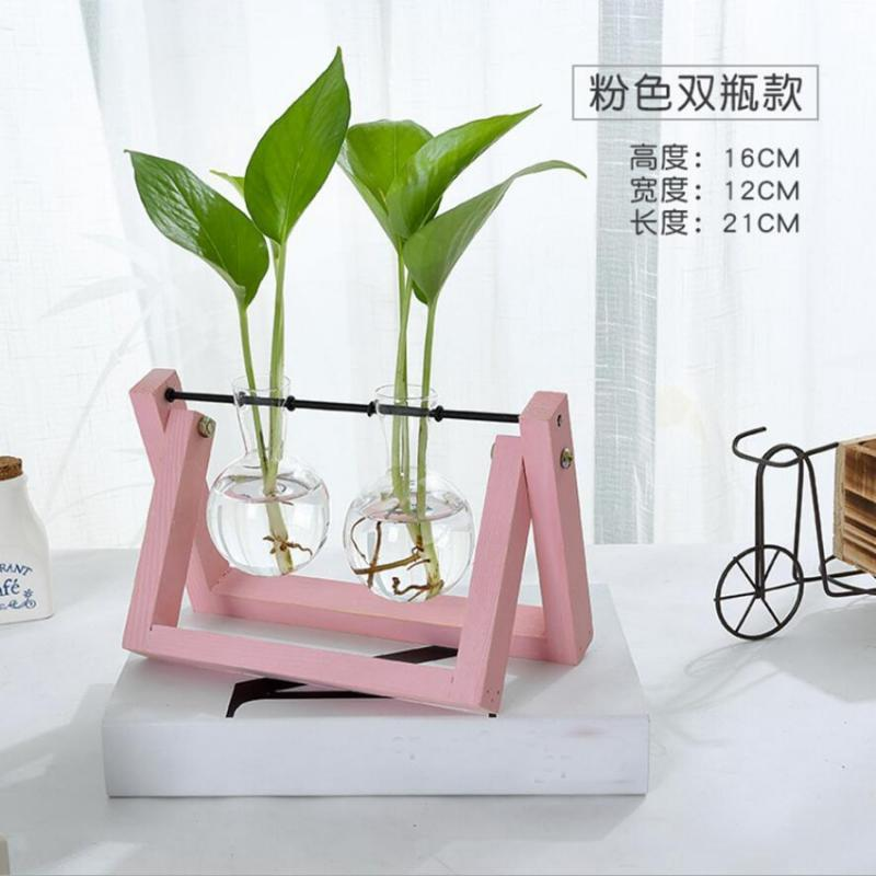 Tabletop-Hydroponic-Flower-Vase-Stands-Decorative-Wooden-Tray-with-1-2-3-Beakers thumbnail 40