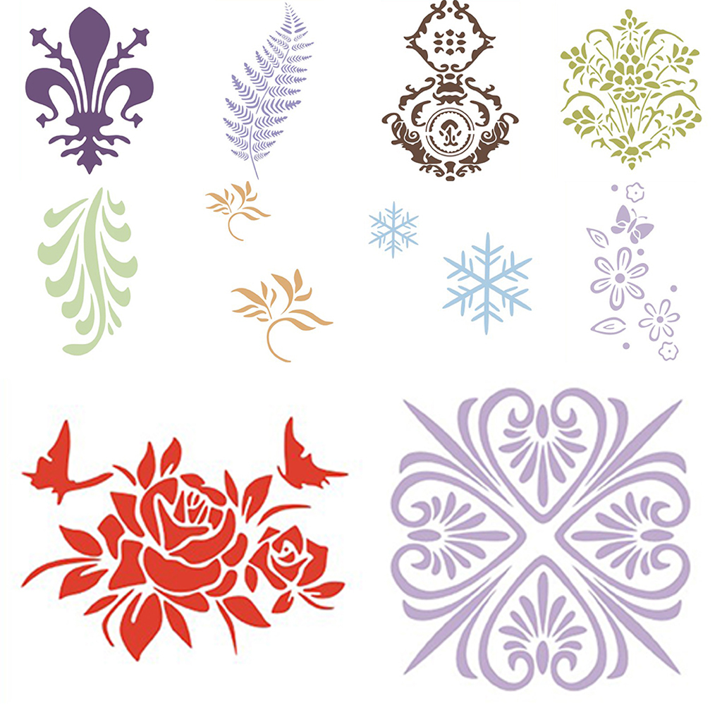Flower-Pattern-Wall-Paint-Stencil-Template-Room-Home-Improvement-Decoration thumbnail 4