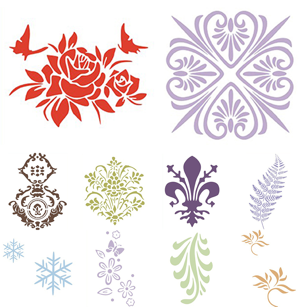 Reusable-Wall-Painting-Stencil-Home-Upholstery-DIY-Template-Flower-Pattern thumbnail 4