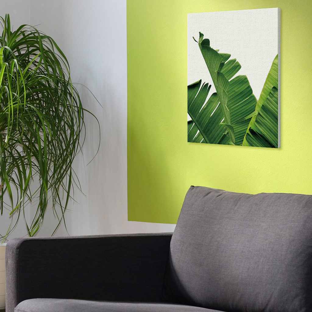 Green Plants Canvas Art Wall Poster Tropical Leaves Contemporary ...