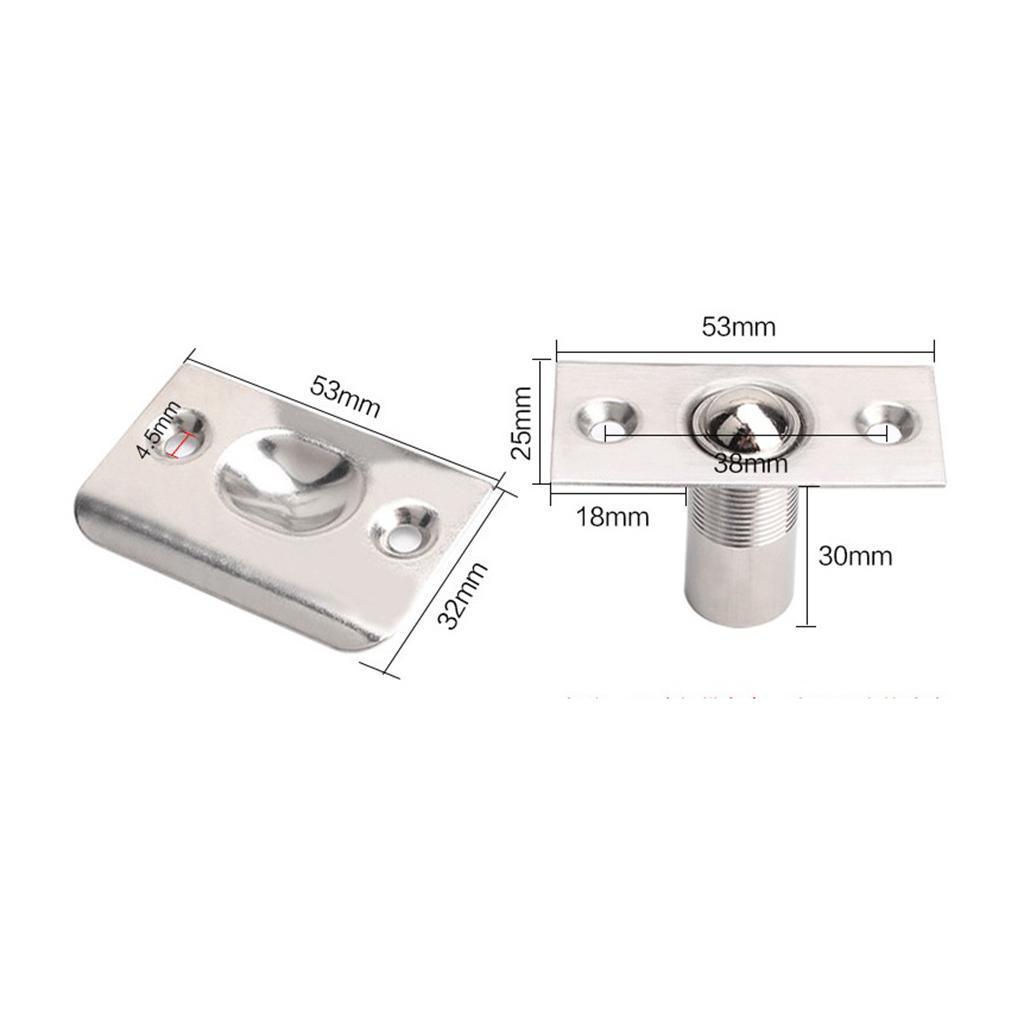 Adjustable Door Roller Catch Mortice LockSpring Loaded Ball Latch Locks JH