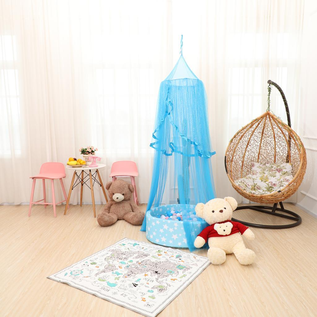 Baby-Crib-Summer-Dome-Bed-Canopy-Mosquito-Net-Gauze-Curtain-Hanging-Decor thumbnail 3
