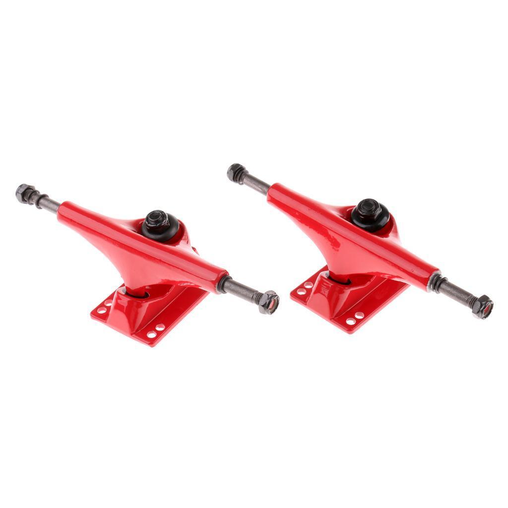 Paire-5-039-039-Trucks-Support-de-Skateboard-Longboard-Outil-Rechange-en-Allige miniature 5