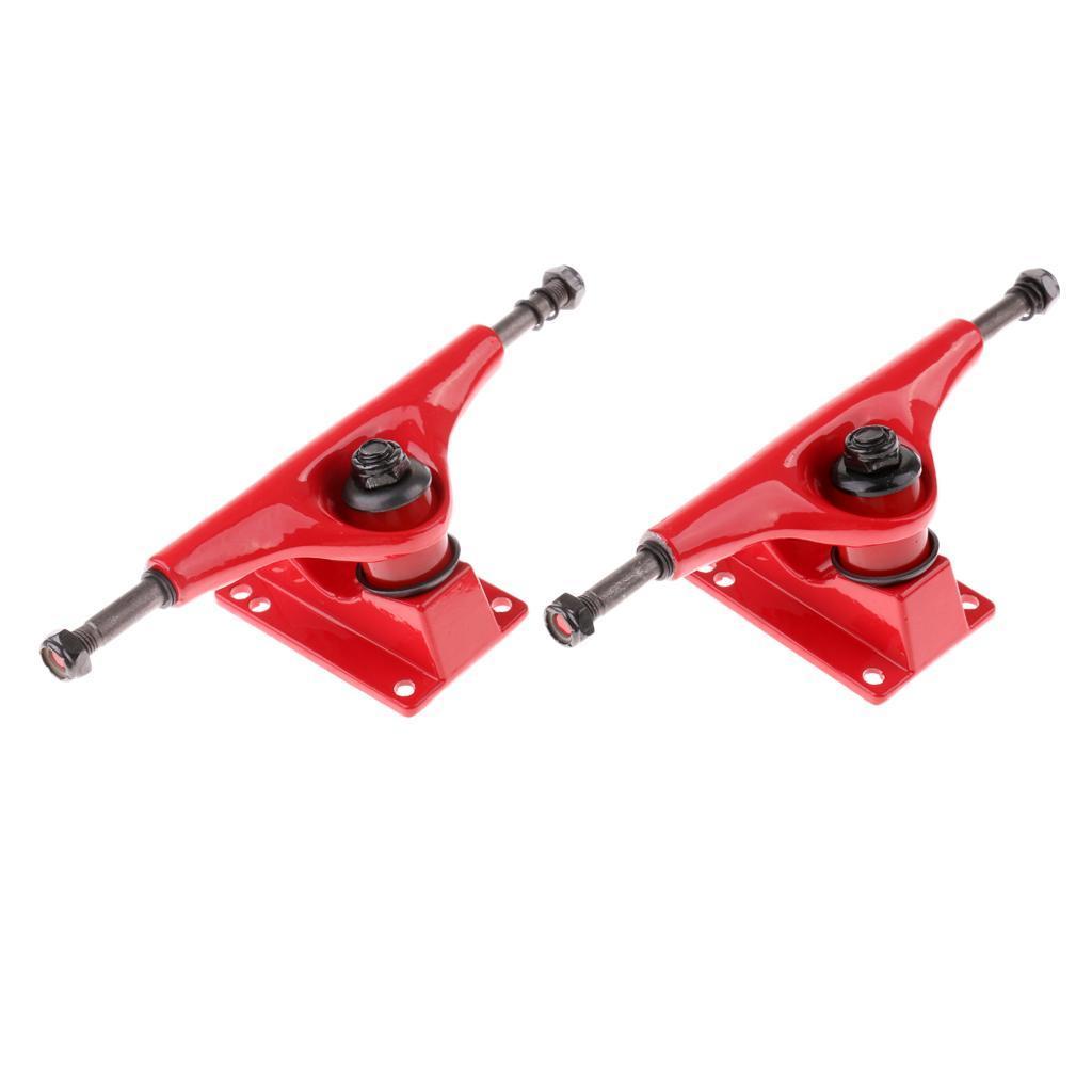 Paire-5-039-039-Trucks-Support-de-Skateboard-Longboard-Outil-Rechange-en-Allige miniature 4