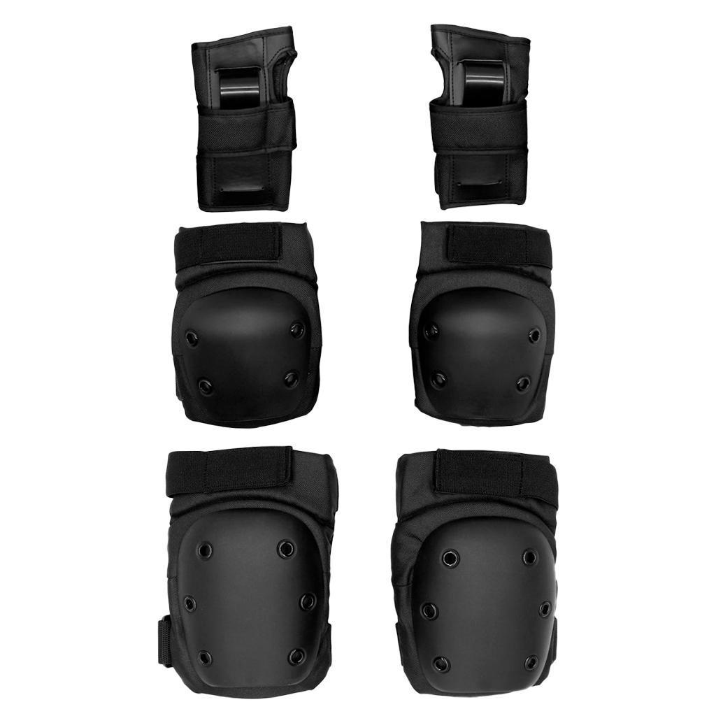 Set-6-Knee-Elbow-Wrist-Pad-Protective-Guard-Cap-for-Skateboard-Cycling-Skate thumbnail 5